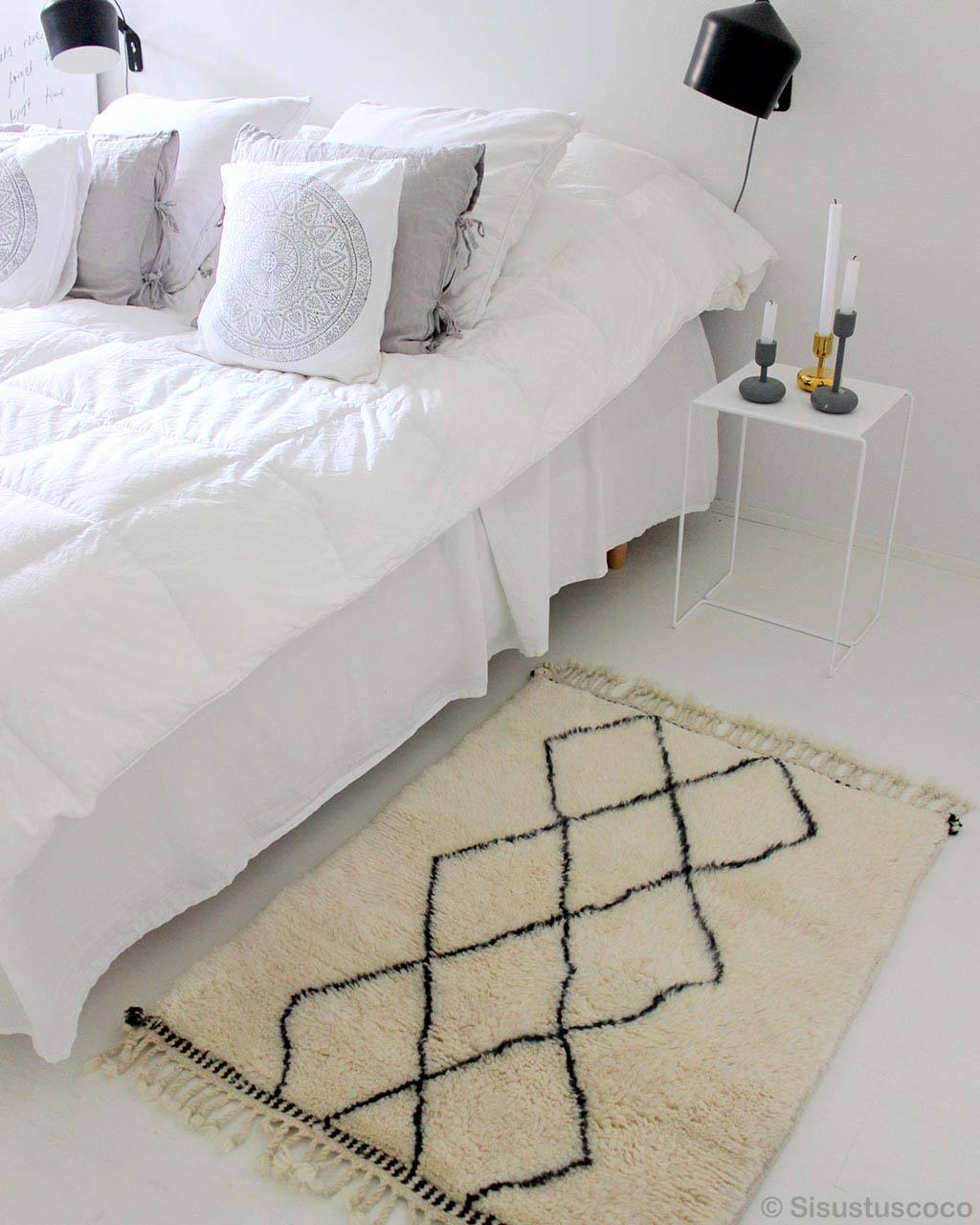 bed side small white table designer beni ourain kids rugs