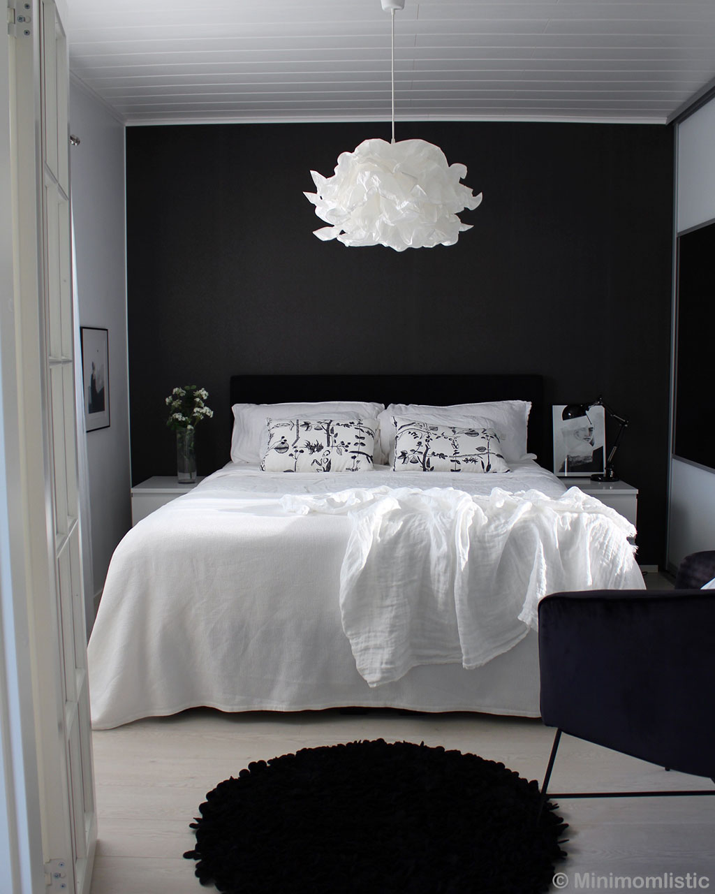 bed with pillows indian modern black striped rug