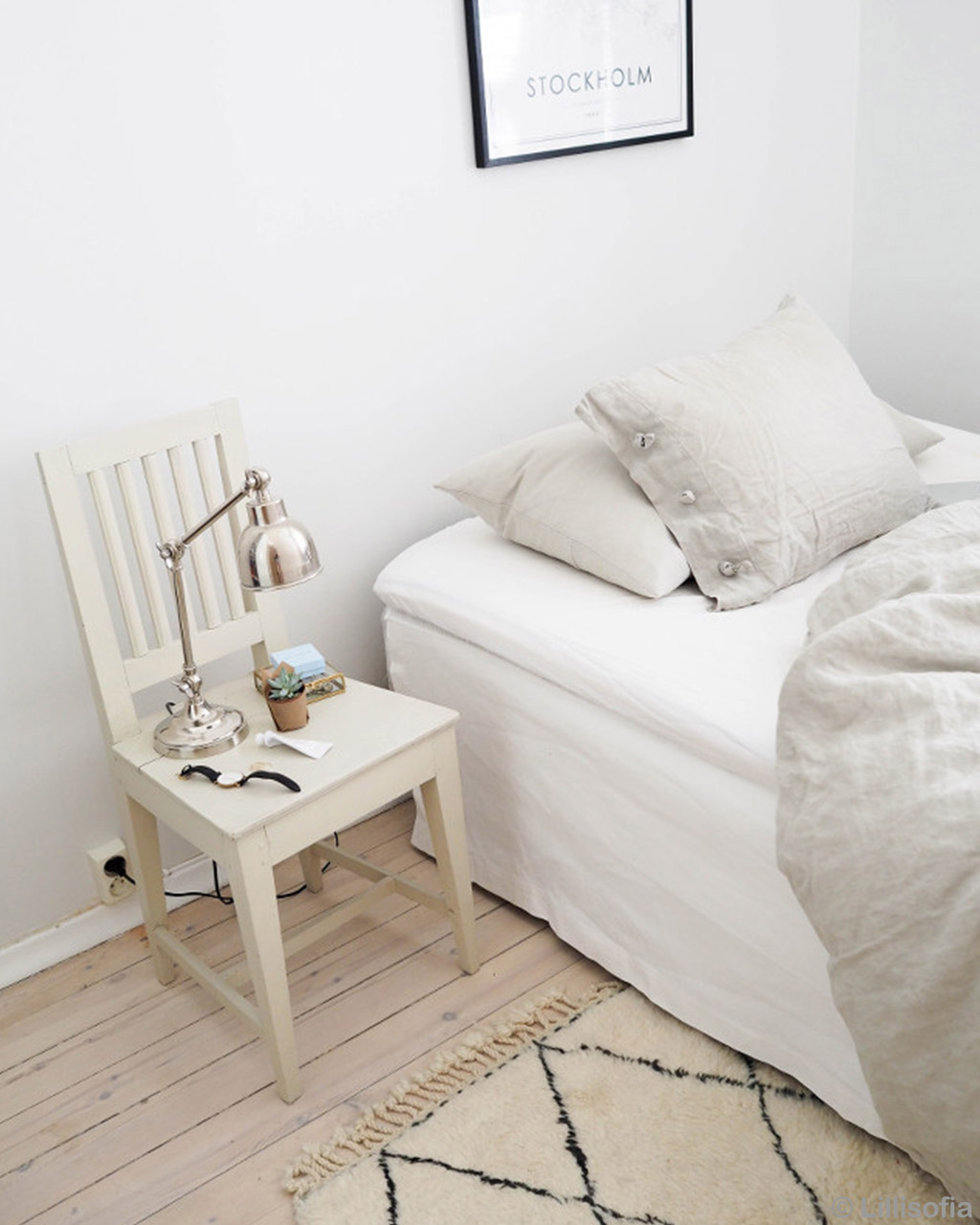chair with lamp and watch moroccan made contemporary rugs