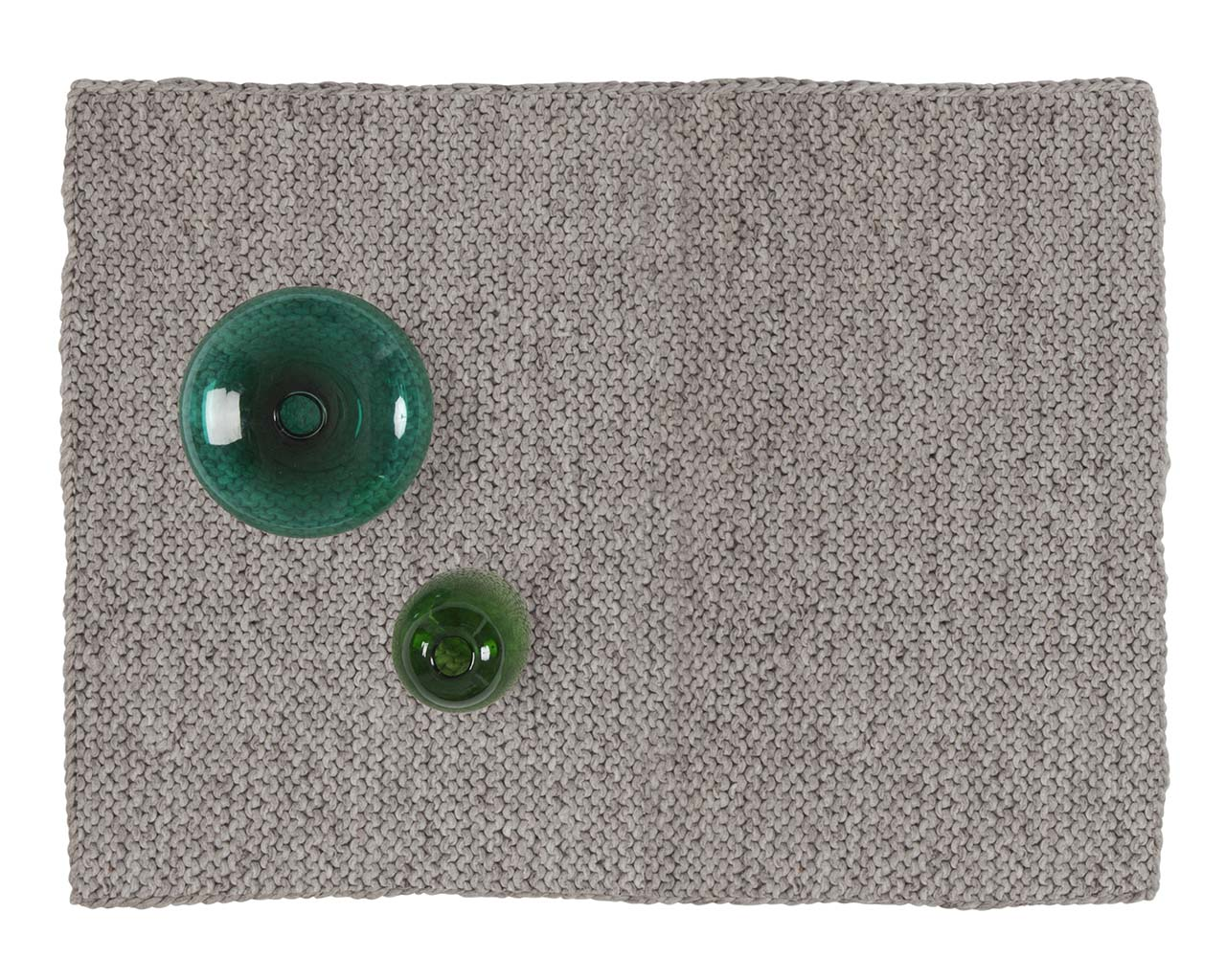 chunky light gray square woolen carpets