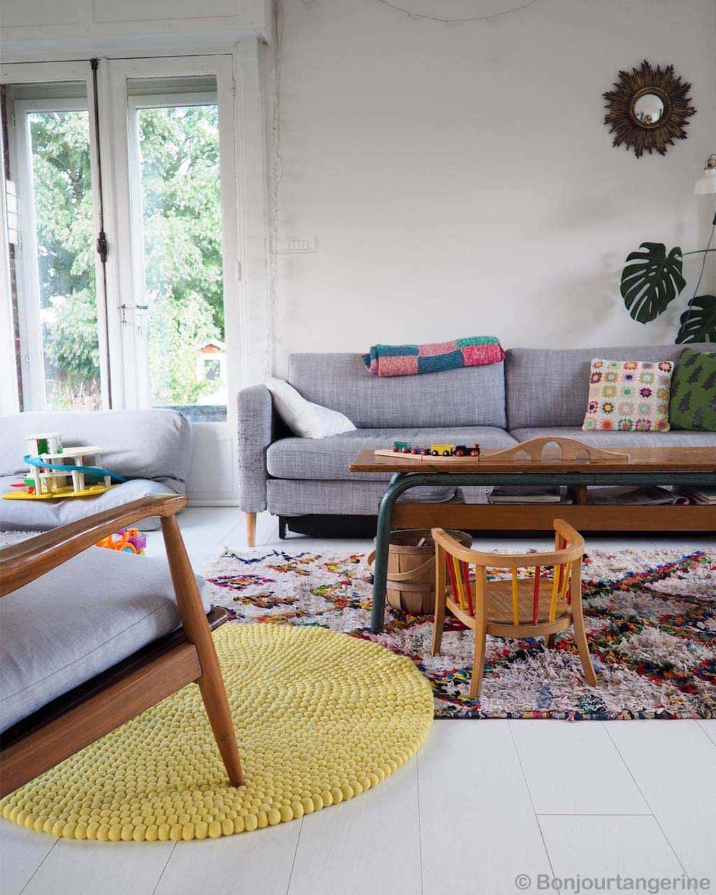 gray sofa and center table from nepal lounge rugs