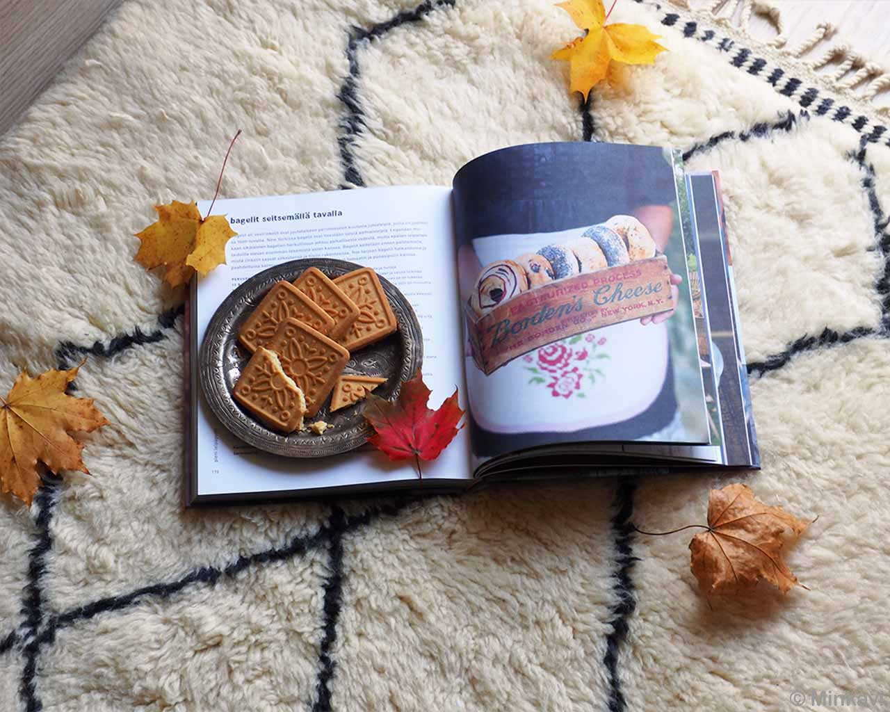 hand knotted leaves book and biscuits made by moroccan contemporary area rug