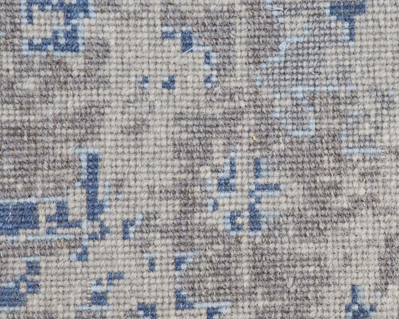 hand knotted light steel blue oriental rug outlet