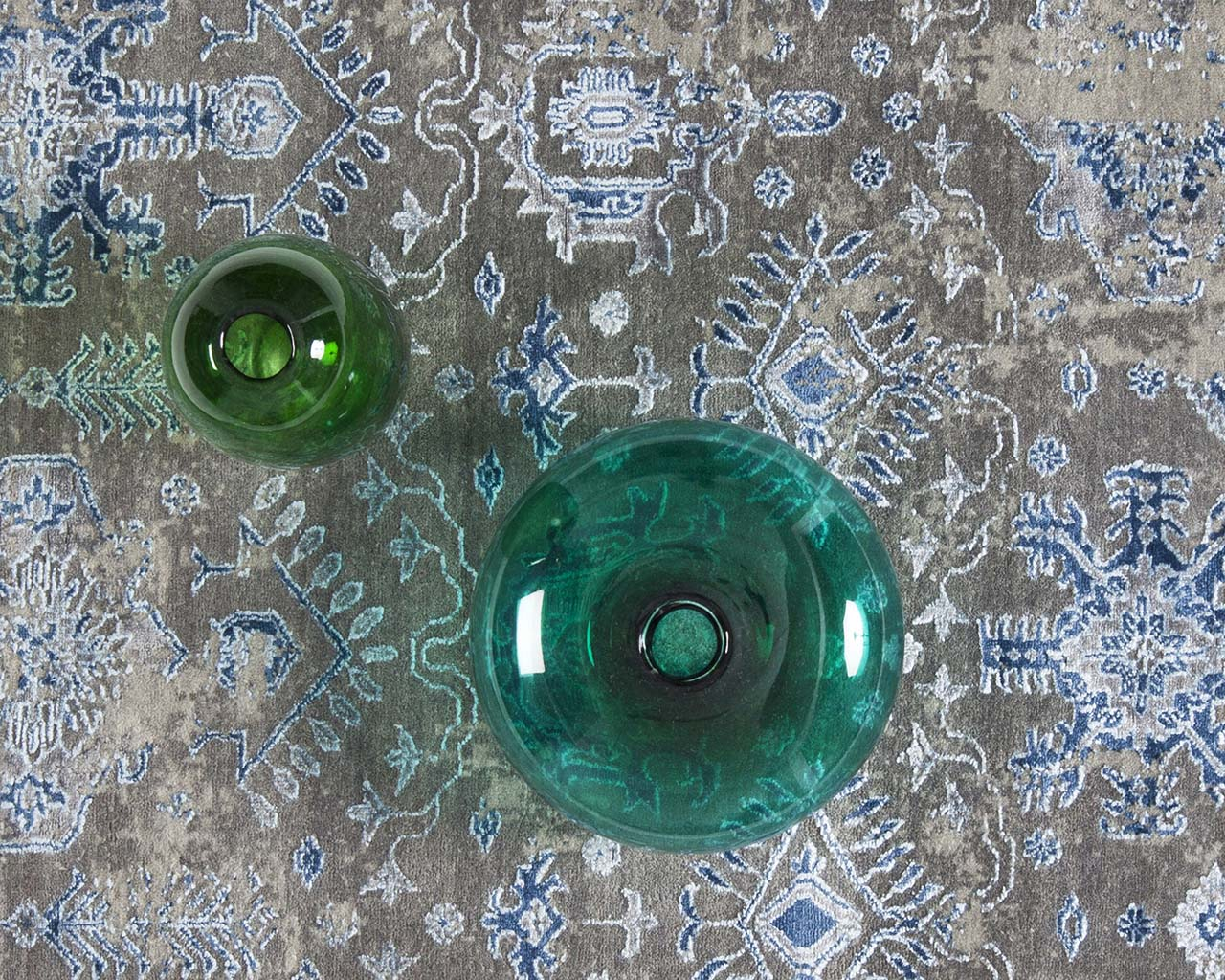 hand knotted woven dodger blue green bowl cheap carpets for sale