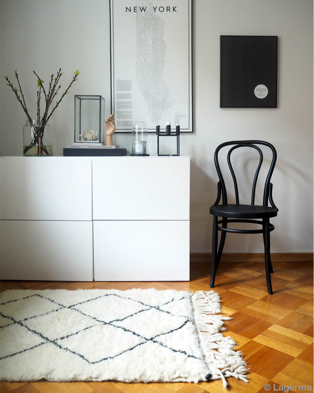 painting and vase with multiple branches african lounge rugs