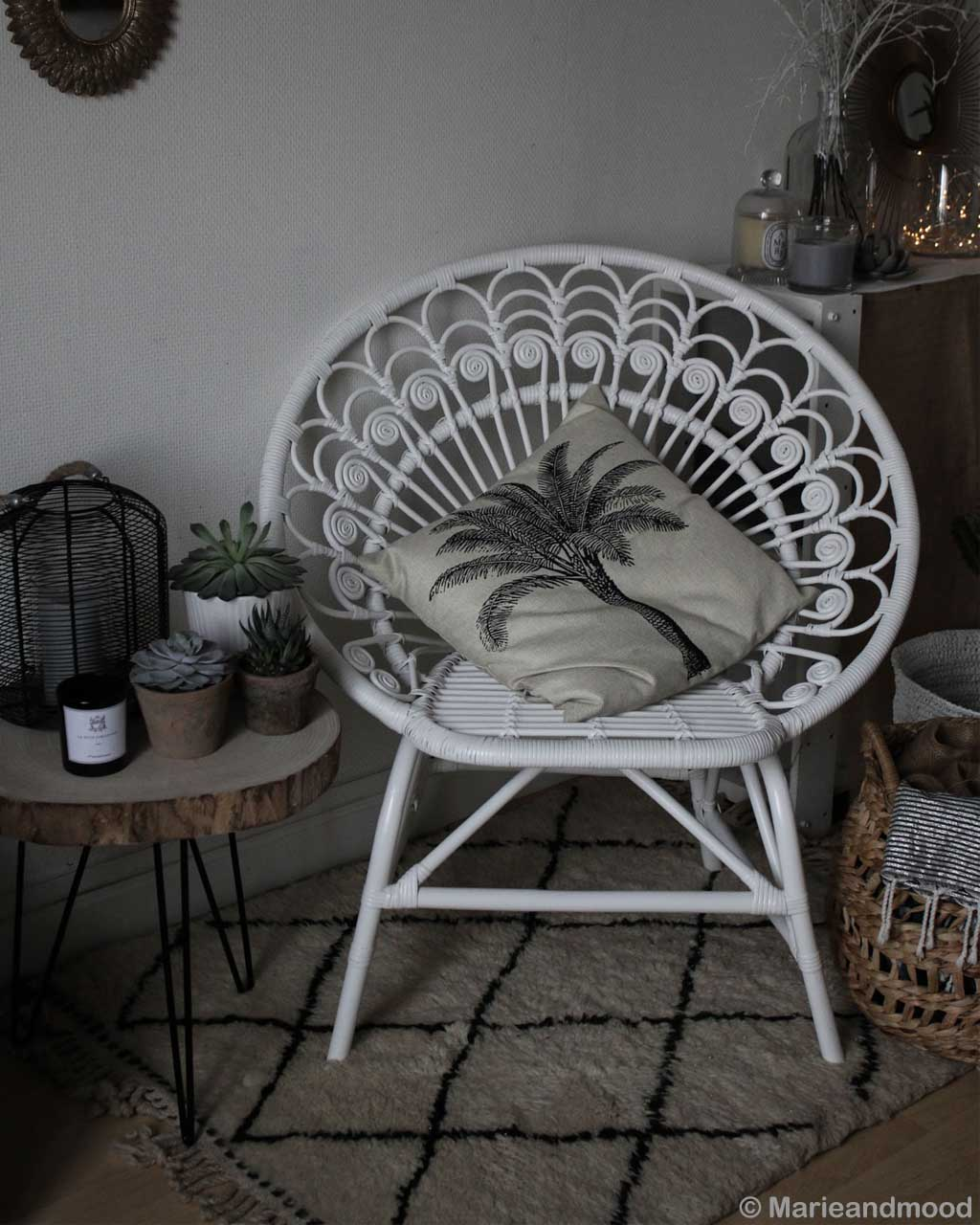 white chair round table and cushion moroccan made contemporary rugs