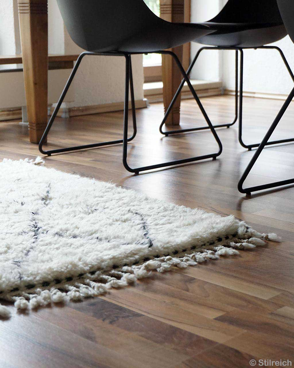 woolen black steel chairs made in morocco contemporary beni ourain kitchen rugs