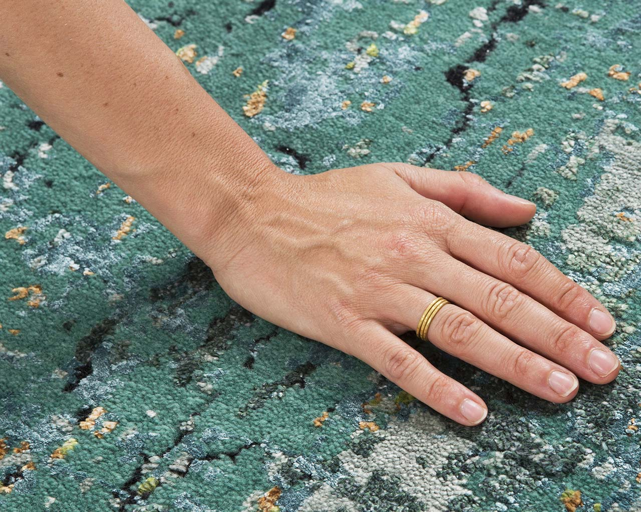 woven light cyan fresh hand with ring discount oriental carpets