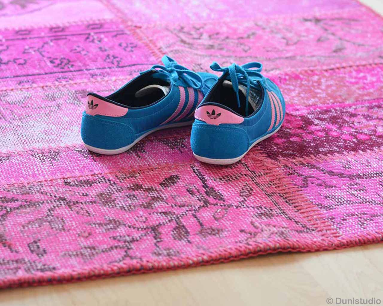pink blue pink adidas shoes recolored pink patchwork carpets
