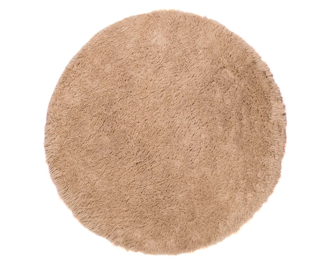 round brown rug for decoration