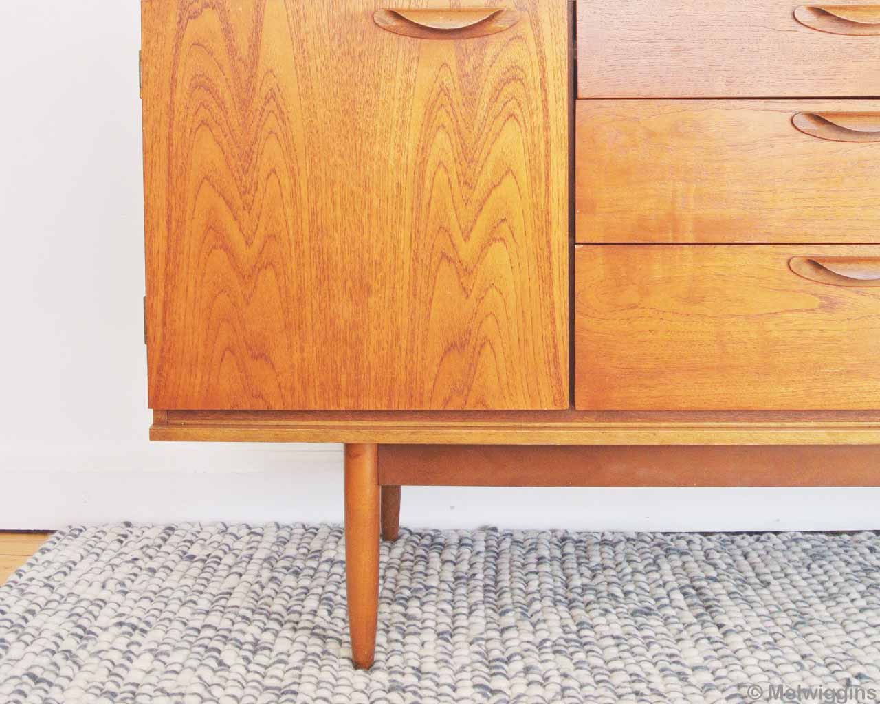 the fifties cupboard wood color felted rugs 1