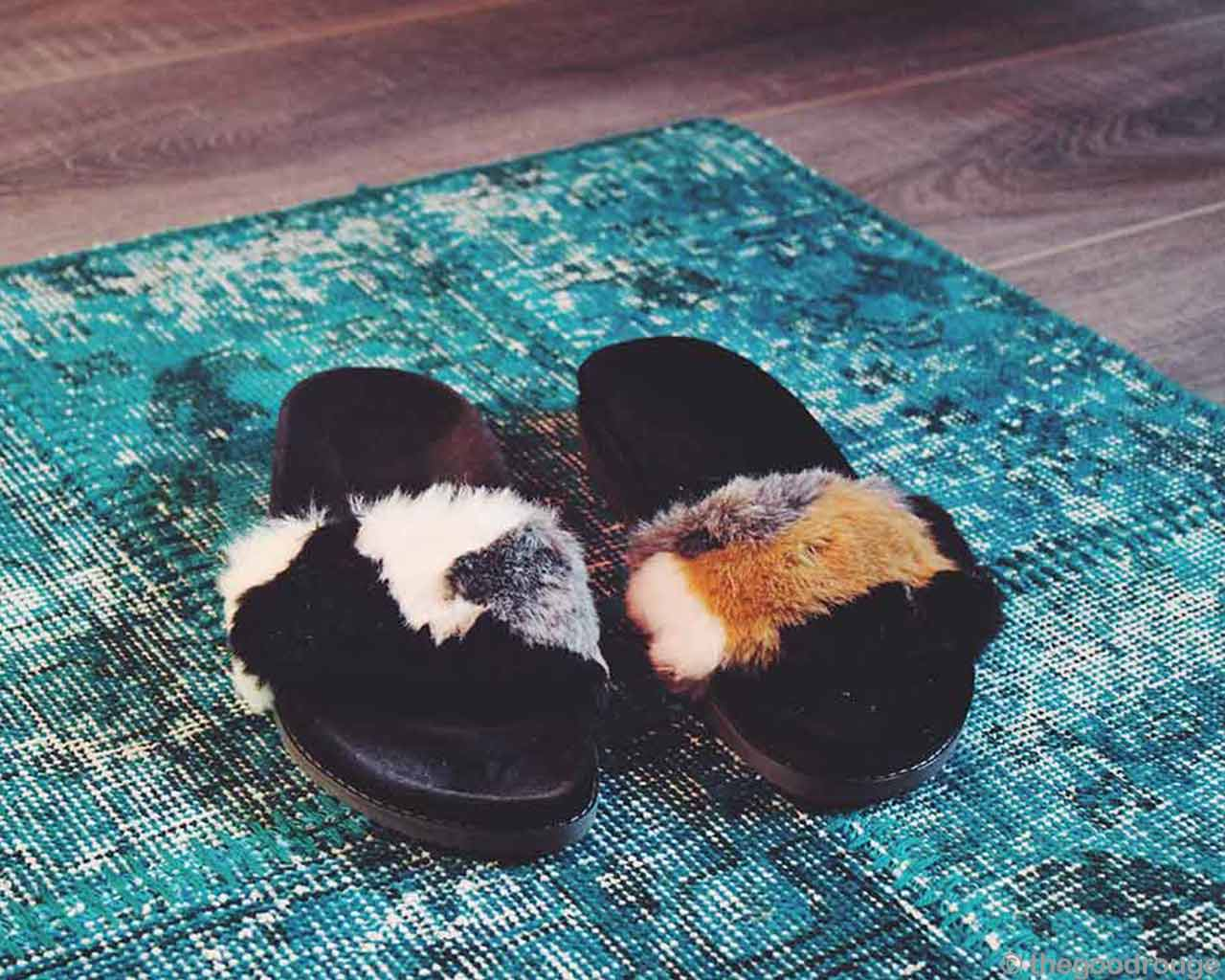vintage turquoise patchwork carpet hip slippers women