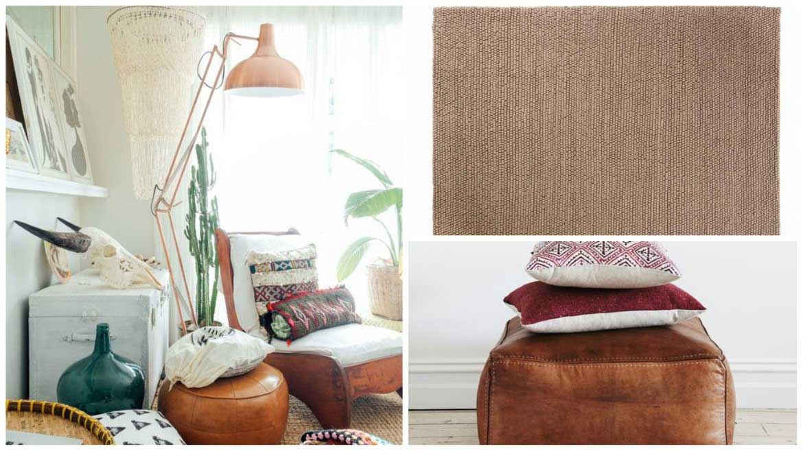 Leather-ottoman-and-Sukhi-Woolen-Loop-rug